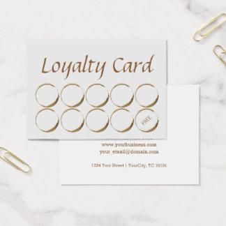Coffee shoplojalitetkort - kaffefläck visitkort