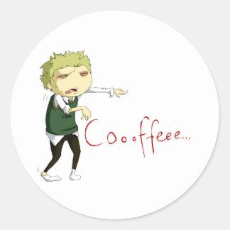 Coffee Zombie Runt Klistermärke