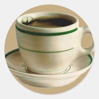 CoffeeCup på solbränna Runt Klistermärke