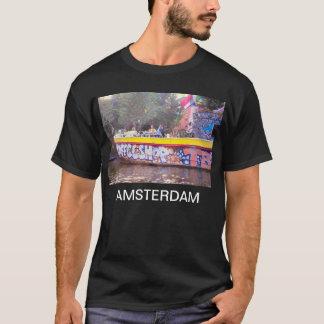 Coffeeshop på en gammal holländsk pråm, Amsterdam Tee Shirts
