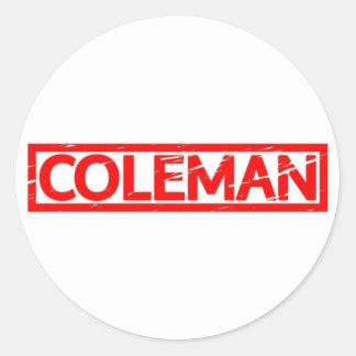 Coleman frimärke runt klistermärke