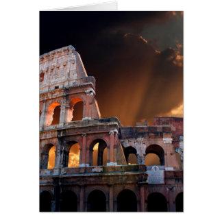 Coliseumen av forntida Rome Hälsningskort