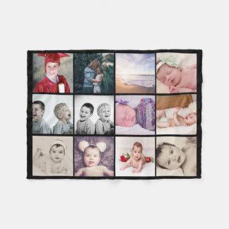collage för 12 foto gör din egna personlig fleecefilt