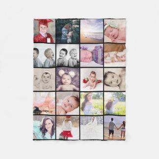 collage för 20 foto gör din egna personlig fleecefilt