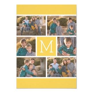 Collage för 6 foto med födelsedagsfesten 12,7 x 17,8 cm inbjudningskort