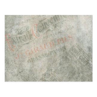 Collage för annonsering för urblektt vintagepapper vykort