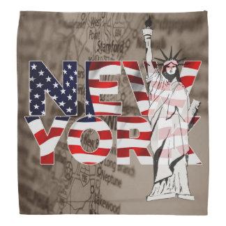 Collage för frihet för New York flaggakarta Bandana