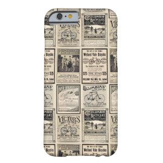Collage för vintagecykeladvertizing barely there iPhone 6 skal