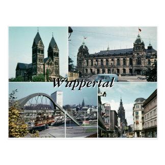 Collage för vintageWuppertal foto Vykort