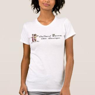 Collarden görar till drottning den chic skjortan f t-shirts