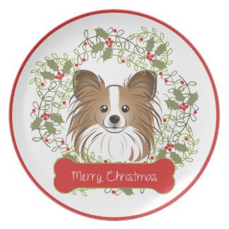 Collectible julhund aveln tallrik