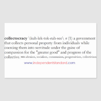 Collectocracy definition rektangulärt klistermärke