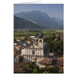 College- kyrka i morgon, Arco, Trento Hälsningskort