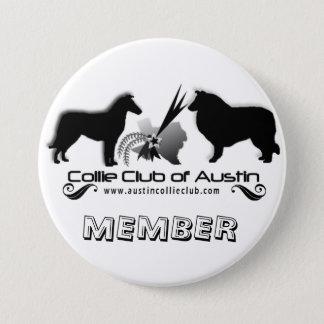 Collieklubben av den Austin logotypen knäppas - me Mellanstor Knapp Rund 7.6 Cm