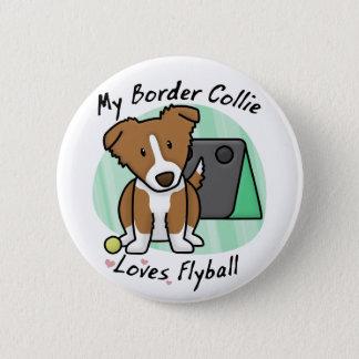 Collien Flyball för den Kawaii bruntgränsen Standard Knapp Rund 5.7 Cm