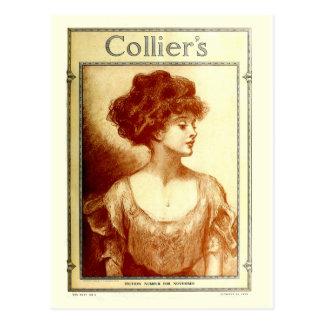 Colliers tidskrift 1909, Gibson flicka Vykort