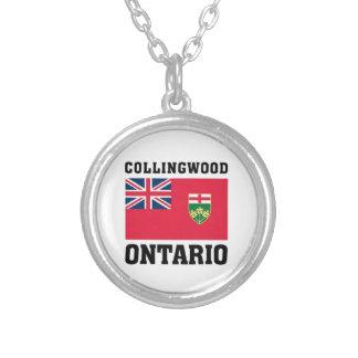 Collingwood Ontario Silverpläterat Halsband