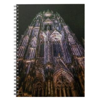 Cologne domkyrka anteckningsbok med spiral