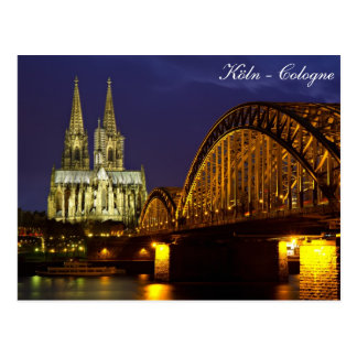 Cologne - domkyrka på skymningvykortet vykort