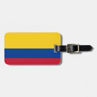 Colombia flagga bag tag