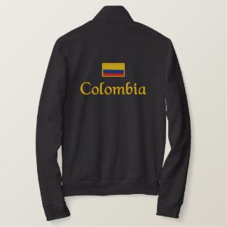Colombia flagga broderad jacka
