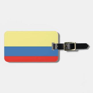 Colombia flagga luggage tags