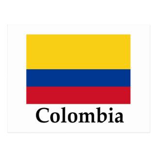 Colombia flagga och namn vykort