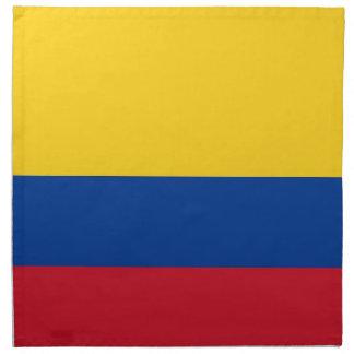 Colombia flagga på den MoJo servetten Tygservett