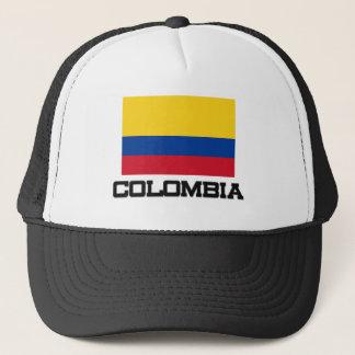 Colombia flagga truckerkeps