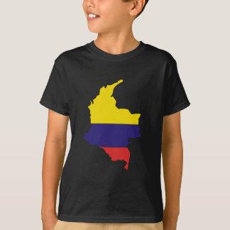 Colombia flaggakarta t shirts