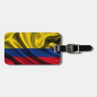 Colombia flaggatyg tag för bagage