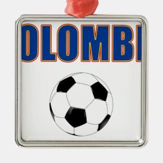Colombia fotboll 3733 julgransprydnad metall