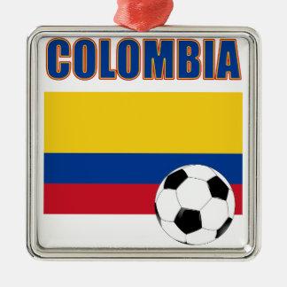 Colombia fotboll 4032 julgransprydnad metall