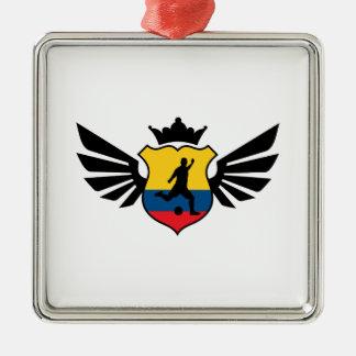 Colombia fotboll julgransprydnad metall