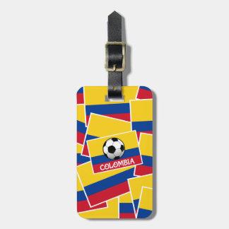 Colombia fotboll reselappar för väskor