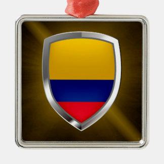 Colombia Mettalic Emblem Julgransprydnad Metall
