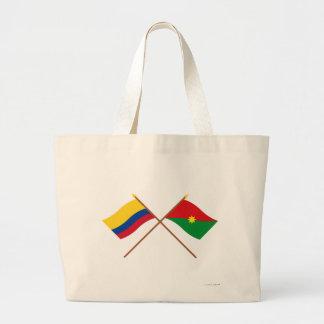 Colombia och Casanare korsad flaggor Tote Bag