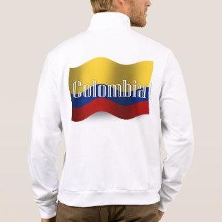 Colombia som vinkar flagga jacka med tryck