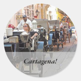 Colombia-Vagn ritt i den Cartagena anpassadet Runt Klistermärke