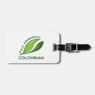 Colombian. Eco vänskapsmatch Bagage Lappar För Väskor