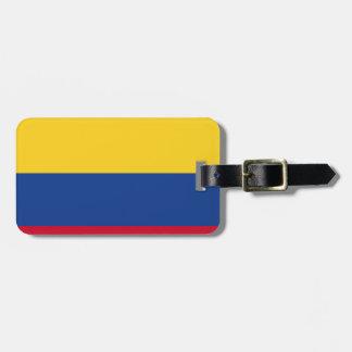 Colombiansk flagga lappar för bagaget