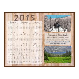 Colorado 2015 årliga zazzlepromokalender reklamblad 21,5 x 30 cm