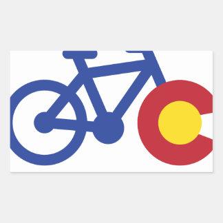 Colorado cykel rektangulärt klistermärke