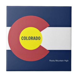 Colorado flagga och slogan kakelplatta