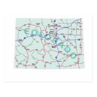 Colorado Interstate kartavykort Vykort
