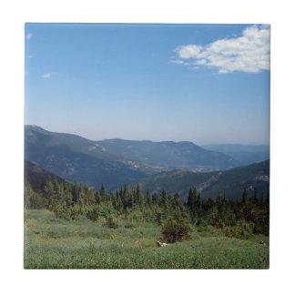 Colorado rocky mountainspanorama kakelplatta