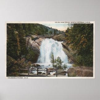 Colorado Springs CO - Helen jaktnedgångar Poster