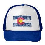 Colorado statlig flaggavintage trucker kepsar