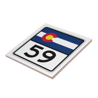 Colorado statlig rutt 59 kakelplatta