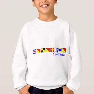Colorado stavade i nautiskt flaggaalfabet tshirts